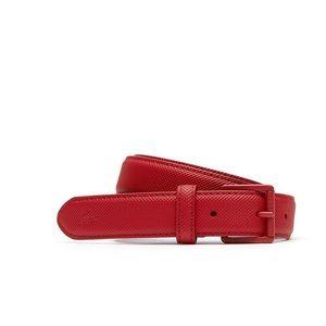Lacoste red skinny belt size 32